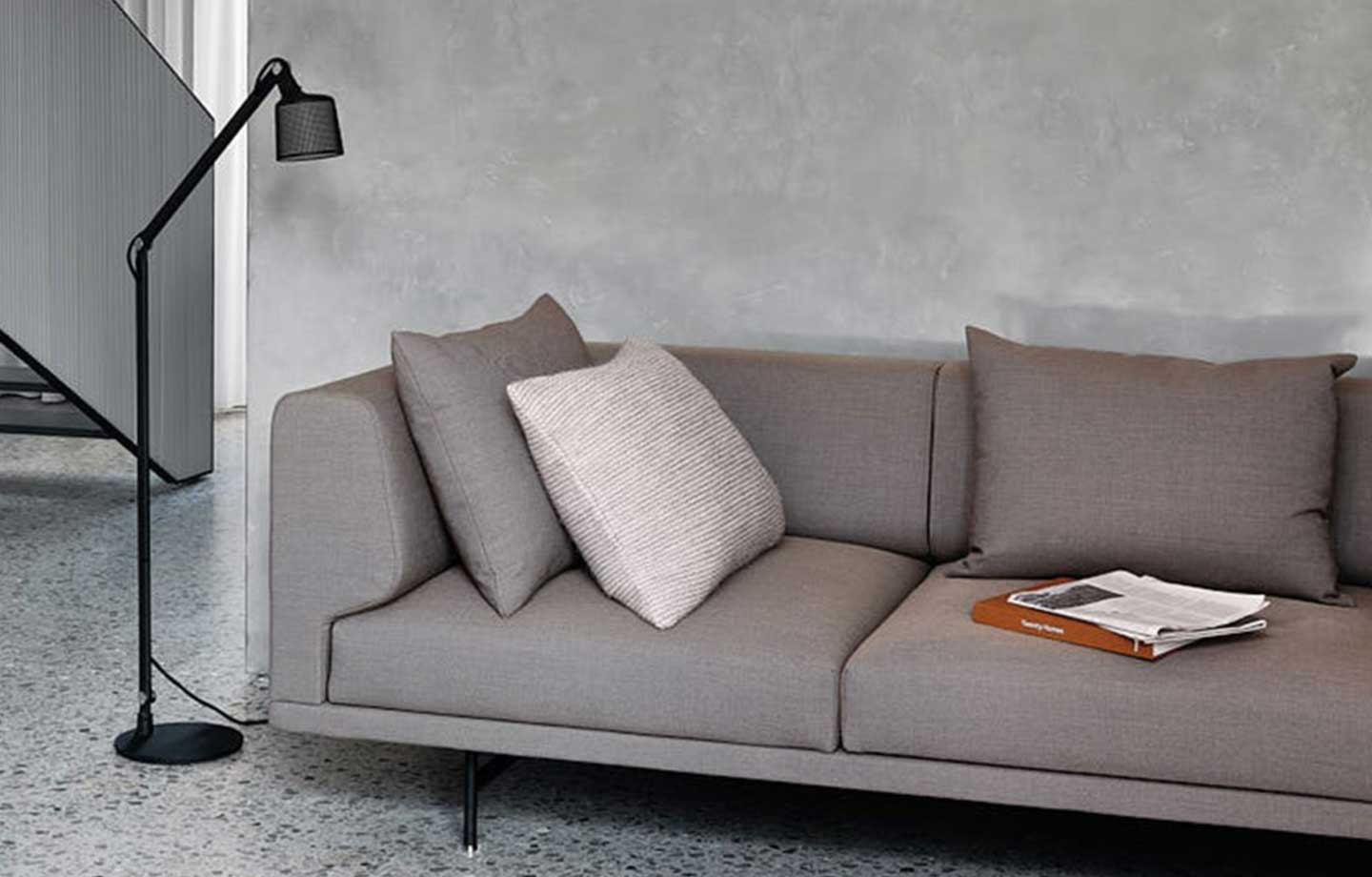 Vipp 632 Chimney Sofa i Steel Cut Trio